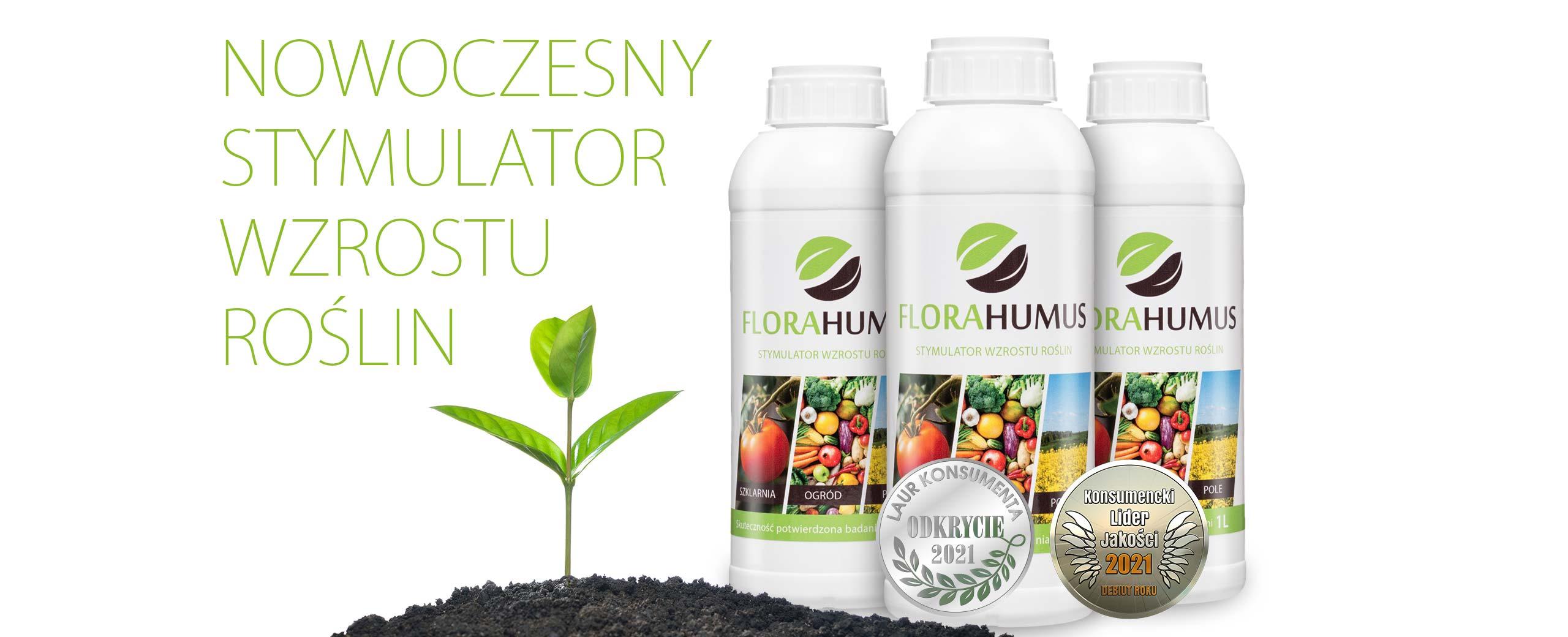 FLORAHUMUS skuteczne kwasy humusowe stymulujące wzrost roślin